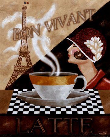 [Latte]: Displayed Ancienn, Vintage Posters, Wood, Laminas Antigua, Bon Cafe, Coffeecaf Art, Blades For Decoupage, Cafe K-Cup, Memorial Teas