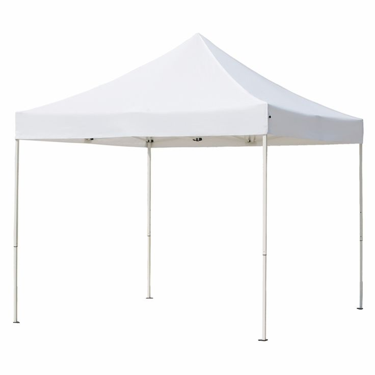 Abba Patio 10 X Feet Heavy Duty Waterproof Pop Up Shade Canopy Portable Foldable White