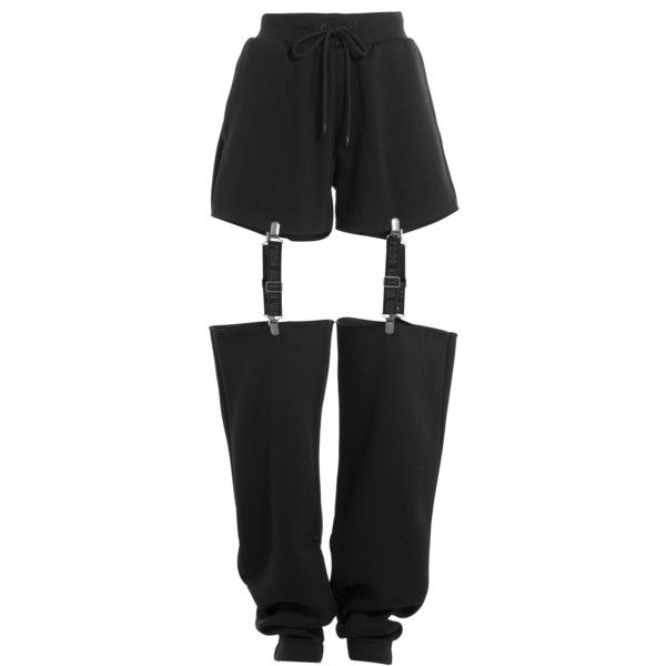 Fenty x Puma by Rihanna Cut-Out Pants ($140) ❤ liked on Polyvore featuring pants, black, cut-out pants, loose fitting pants, relaxed pants, loose pants and cut out pants