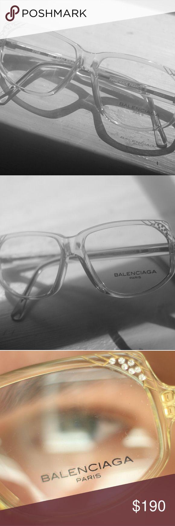 RARE Authentic Balenciaga Vintage Glasses AUTHENTIC YELLOW TINT FRAMED 1900 VINTAGE GLASSES! EXCELLENT CONDITION! RARE Balenciaga Accessories Glasses
