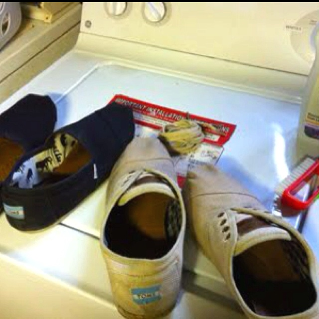 You can clean toms shoes in the wash.  Who knew?  Source: http://www.shoedigest.com/shoe-repair/clean-toms-shoe/