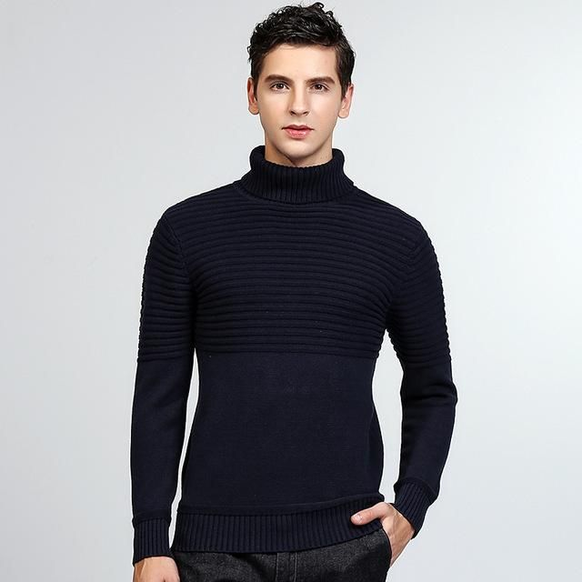 Men's Turtleneck Pullover Sweater