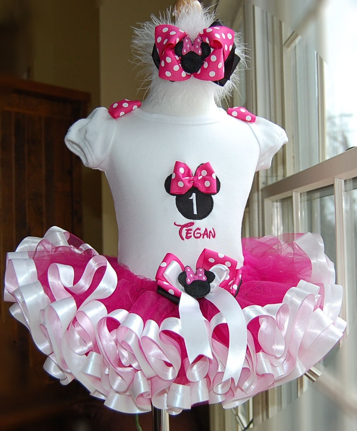 Minnie Mouse First Birthday Party Via Little Wish Parties: 43 Best Images About Ribbon Trim Tutu On Pinterest