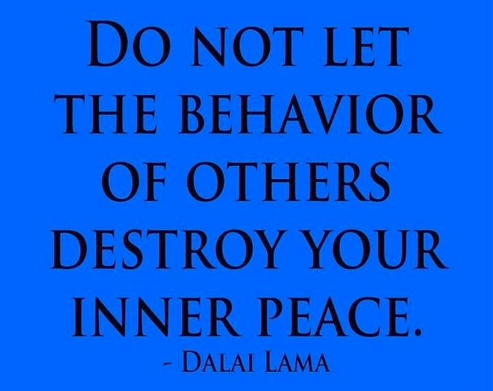 Affectingyou: Don't Let Other People's Bad Behavior Affect You #Dalai