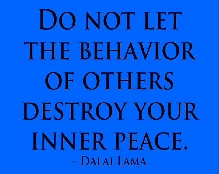 Affectingyou: Don't Let Other People's Bad Behavior Affect You #Dalai