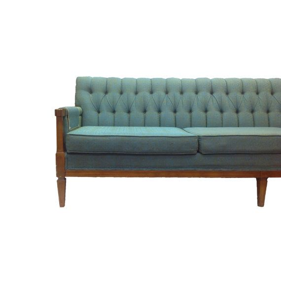 Midcentury Vintage Tufted Sofa By Broyhill By