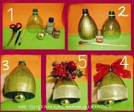 Reciclar botellas y bolas navide as viejas para hacer for Adornos navidenos hechos con botellas plasticas
