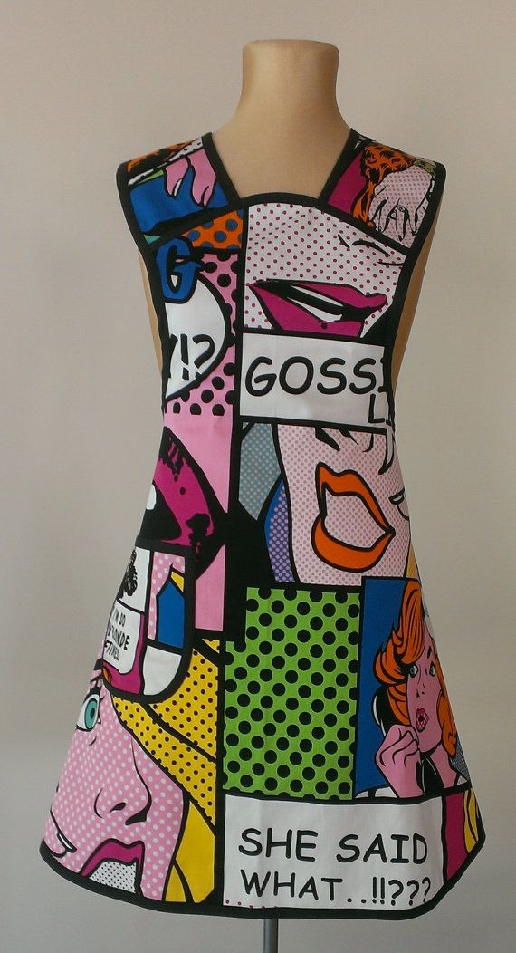 Hey, I found this really awesome Etsy listing at https://www.etsy.com/au/listing/263362360/pop-art-apron-urban-chic-apron-womans