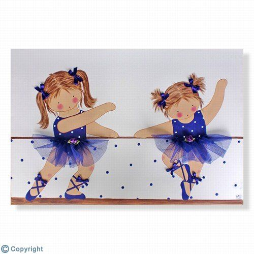 Cuadro infantil personalizado ni as bailarinas ref for Cuadros infantiles al oleo