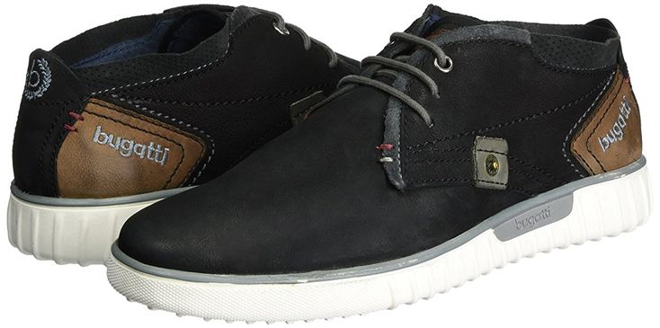 Bugatti K37301g, Sneakers Hautes Homme, Noir (Schwarz/Braun 102), 41 EU: Amazon.fr: Chaussures et Sacs