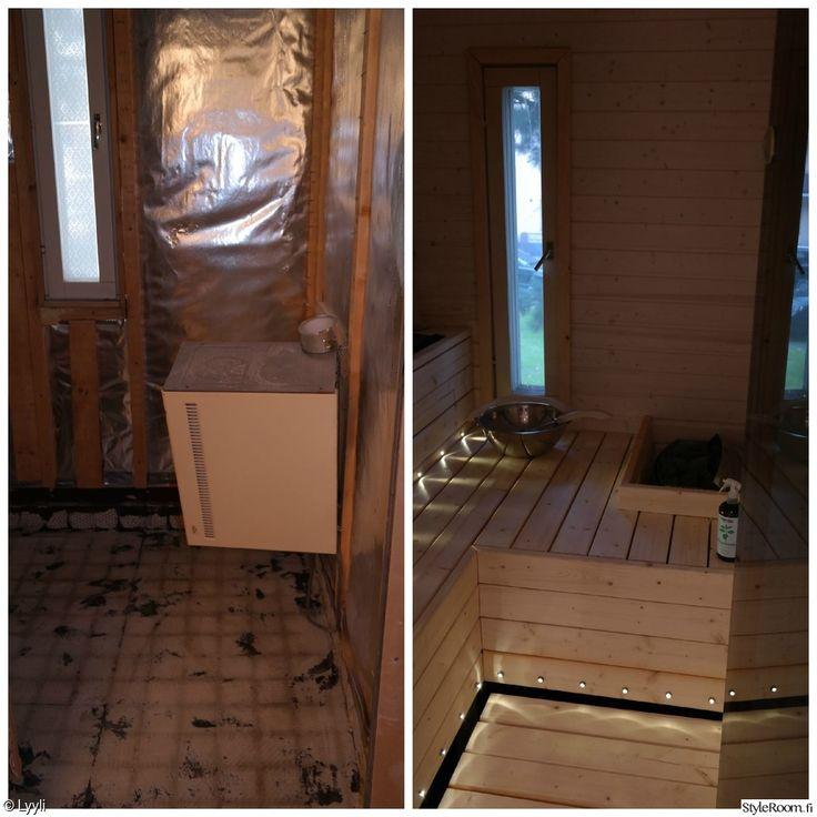 sauna,remontti,ennen ja jälkeen,ennen/jälkeen,ennen-jälkeen,ennen remonttia,remontin jälkeen