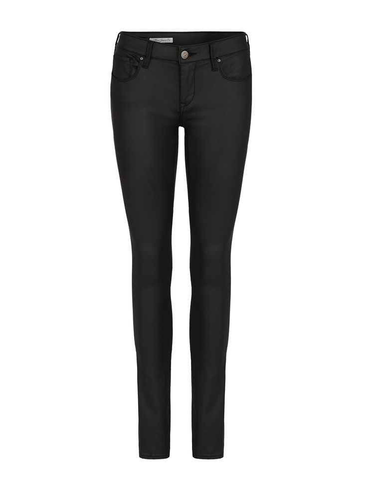 Image for Mavi Alexa Mid Rise Skinny In New Black Jeather from Just Jeans