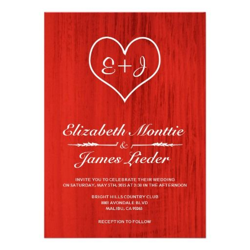 red country wedding invitations