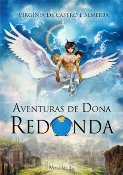 """Capa do livro """"Aventuras de Dona Redonda"""" de Virgínia de Castro e Almeida."""