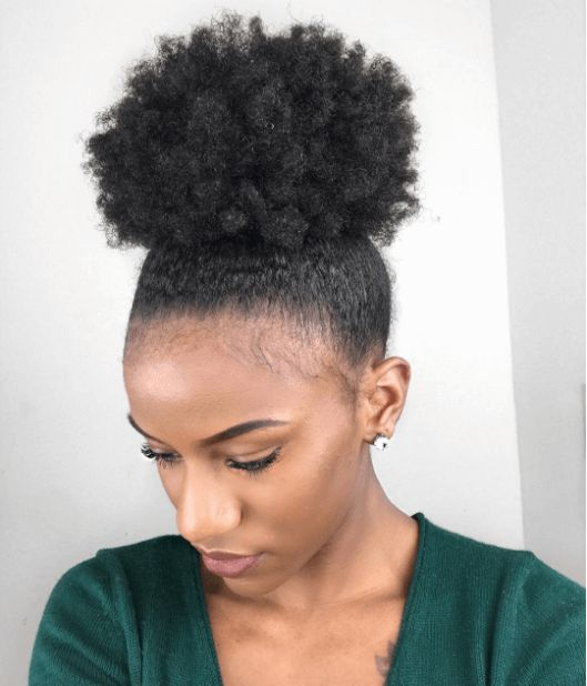 See The Best Headbands/Hair Ties for Natural Hair to wear with a puff style. These headbands/ties are perfect for preventing your style from being too tight