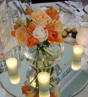 Floral fishbowl centrepiece. Fishbowl CenterpieceBowl CenterpiecesWedding ... & 117 best Fish bowls images on Pinterest | Christmas decor Christmas ...