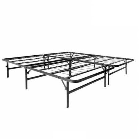 structures folding bed base and platform bed frame black - Fold Up Bed Frame