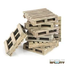 These construction pallets can be stacked in any arrangement to add partial cover and realism to any table. Each pack includes eight pallets.This laser cut 3mm MDF piece comes unassembled and unpainted.