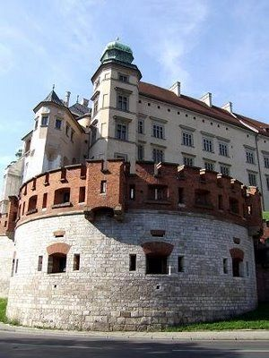 Wawel Castle, Krakow, Poland - it was not this sunny, when I was there. In fact, it was gray, foggy, and really cold.