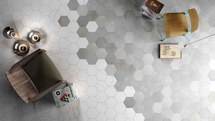 Cómo utilizar las baldosas hexagonales                                                                                                                                                                                 Más