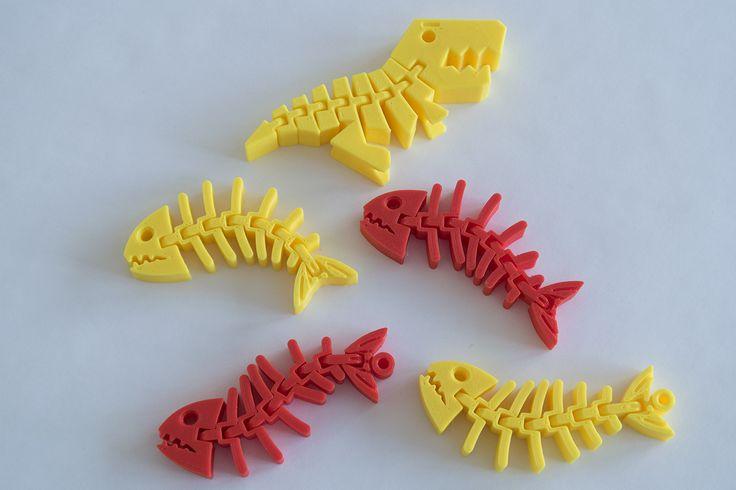 Nějaké to zvířectvo, tiskárna Rebel 2Z, tryska 0,4 mm, výška vrstvy 0,3 mm, materiál červené a tmavě žluté PLA.