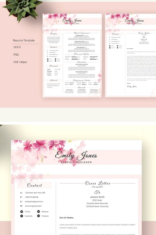 This Is A Digital Download You Can Print As Many As You Want This Listing Is For Digital Files That I Cust Modele De Cv Design Modele De Cv Creatif Modele