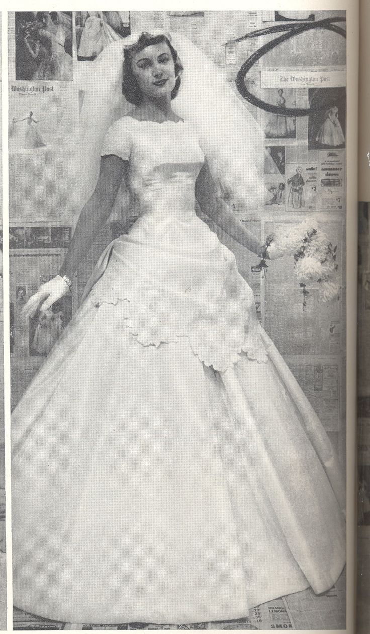 From winter 1957, Alfred Angelo vintage designer fashion bride ad