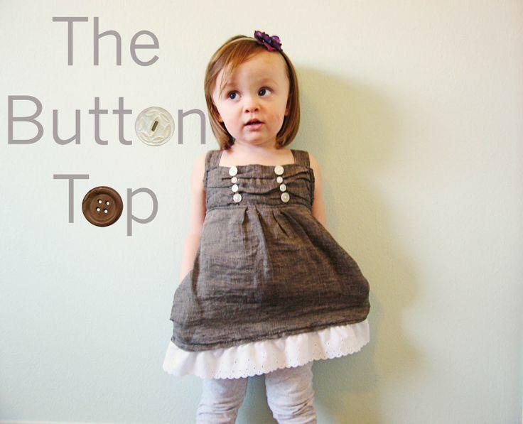 The Button Top Tutorial: Little Girls, Cute Tops, Dresses, Girls Clothing, Clothing Tutorials, Children Clothing, Kids Clothing, Buttons Tops, Sewing Tutorials