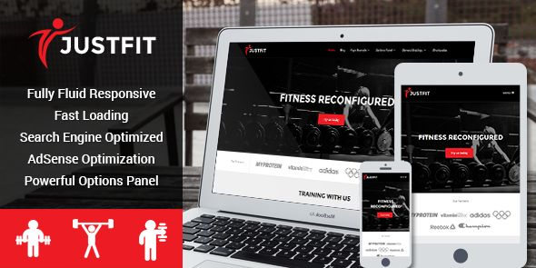 JustFit Responsive #WordPress Gym or Fitness Center Theme - www.wpchats.com