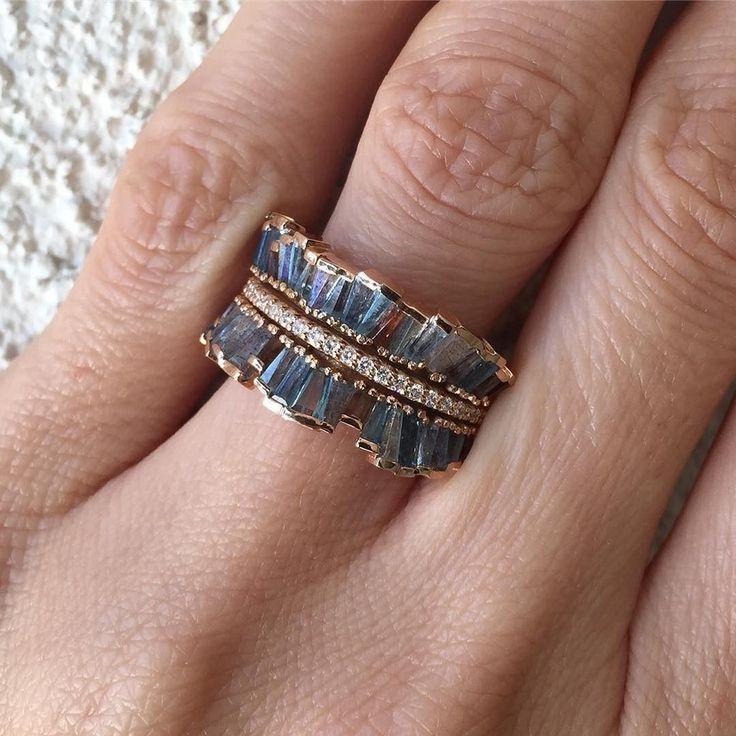 Ruffled Mixed Gemstone Ring Jewelry