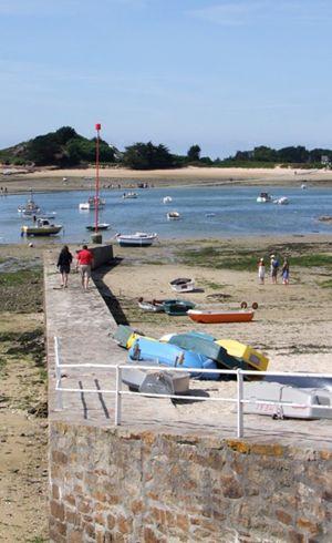 Digue à Carantec | Finistère Bretagne | #myfinistere
