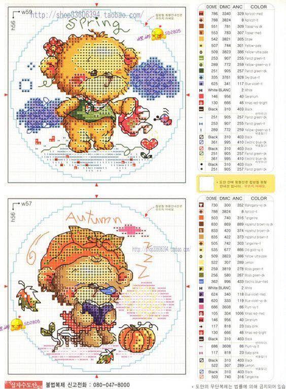 Piccola raccolta di schemi per ricami a punto croce della SODA - ovvero pattern coloratissimi   Giapponesi-Coreani con gruppi, sampler, animali, bambini , ecc