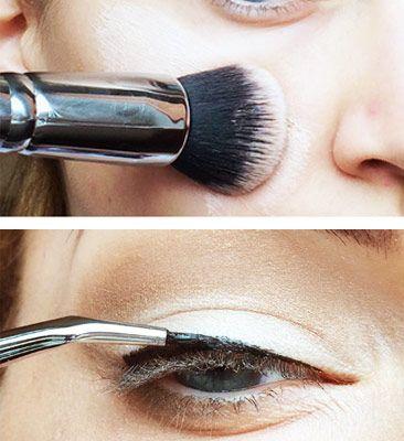 Ako používať kozmetické štetce na denné líčenie