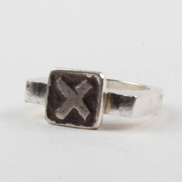 X Tile Ring - Black | DARKBLACK $205 NZD