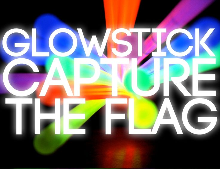 This is a favorite in our youth group. We might play it 4 times a year.  Supplies:     1. Glowsticks (two per player, one for each wrist). One color per team.    2. 2 Larger glowsticks (or many connected to form a giant ring) This       will be a flag.  How to Play:  Its capture the flag but it's done in the dark and with glow sticks.  Divide students up onto two teams, and give each player two glow sticks for  their wrists.  Make sure you stick with one color glow stick per team.  Players…