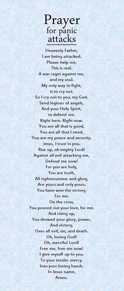 Prayer For anxiety.