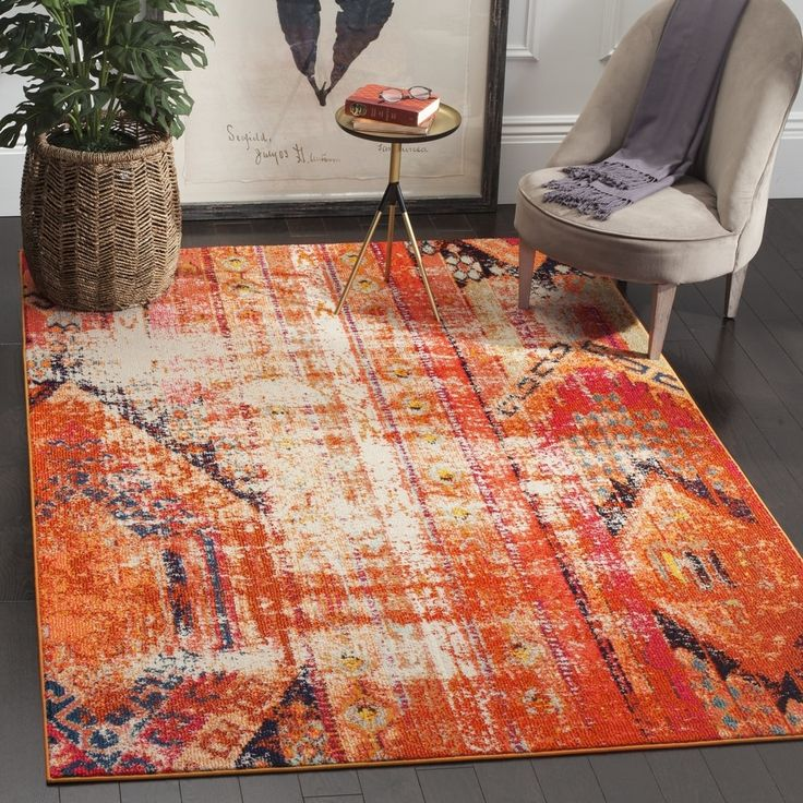 Safavieh Monaco Vintage Bohemian Orange Multi Rug 6 7 X 9 2