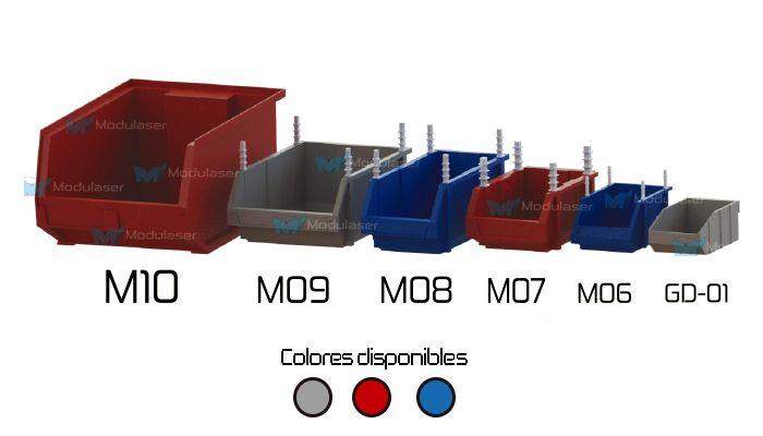 Cajas plásticas abiertas, ideales para organizar, almacenar, clasificar y exhibir productos, mercancías e inventarios de manera eficiente. Logrando optimizar espacios, localizar más rápido tus productos y atender en menor tiempo a tus clientes. Variedad en tamaños, diseños y colores.Te brindamos asesoría personalizada, Te esperamos! Tel: 4145213 en Bogotá - WhatsApp: +57 318 4320023 -- +57 317 5022118 -- +57 3175130156. #Modulaser
