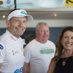 Former PM Tony Abbott launches the 2016 Waterline Challenge in Manly, Sydney