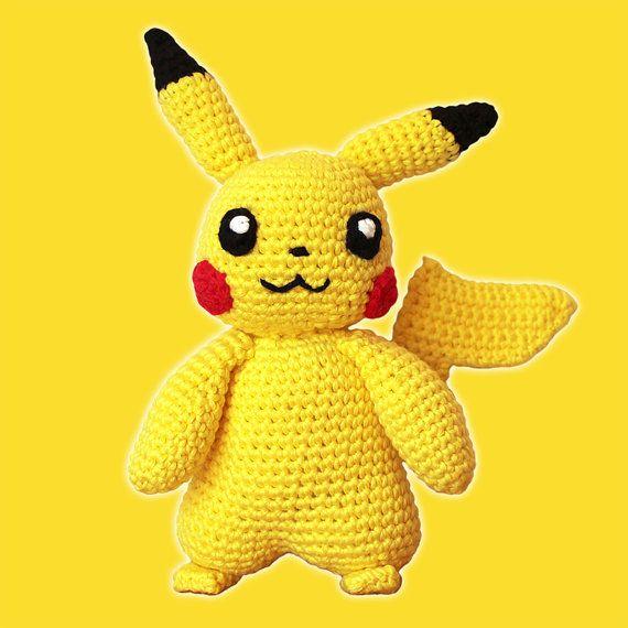 Amigurumi Geek Patterns : Pikachu pokemon amigurumi pattern pdf yellow animal