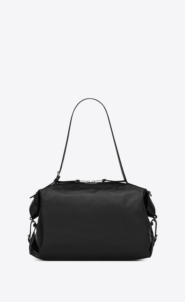 3630035812 SAINT LAURENT ID Woman Medium ID Convertible bag in black moroder leather  a V4
