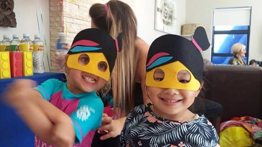 Lego masks for the kids to wear