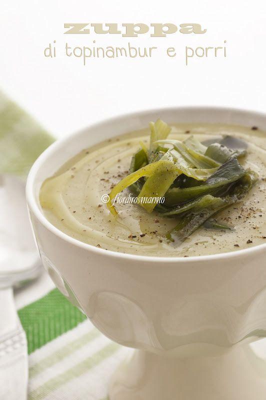 zuppa di topinambur e porri (Artichoke and leek soup)