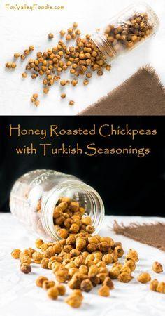 Honey Roasted Chickpeas with Turkish Seasonings