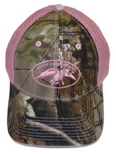 Duck Commander ~ Laides Pink and Camo 2 Tone Mesh ~ Duck Hunting Hat Cap Dynasty | online accessories for women