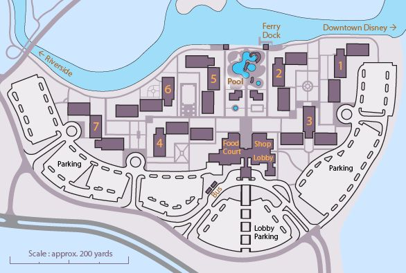 Help picking your room at Disney World Port Orleans French Quarter resort with maps and tips.