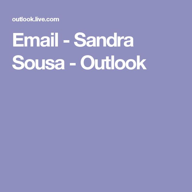 Email - Sandra Sousa - Outlook