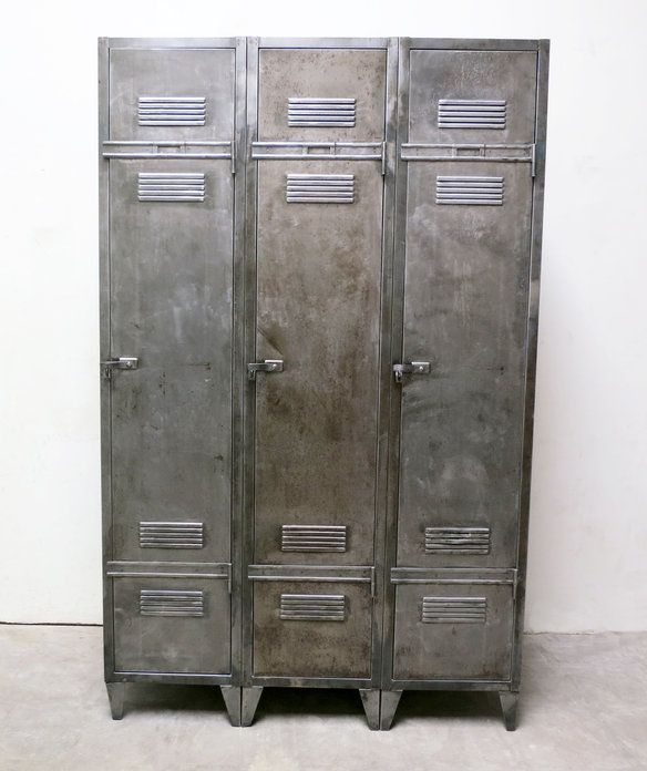 French Industrial Vintage 3 Door Locker in Montebello, California ~ Apartment Therapy Classifieds