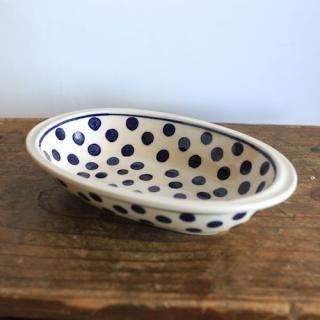 楕円深皿(オーバル)/水玉
