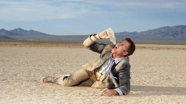 Man In Desert Drinking Water Lifestyle Pinterest